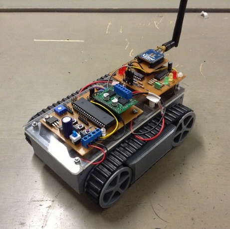 Remote-Controlled Tank Robot
