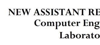 New Assistant Recruitment CE-Lab