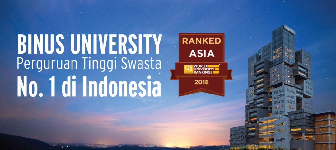 BINUS UNIVERSITY, PERINGKAT PERTAMA PERGURUAN TINGGI SWASTA DI INDONESIA
