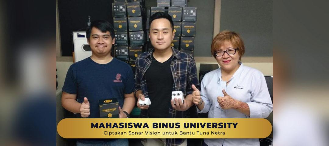 Mahasiswa Sistem Komputer BINUS Ciptakan Sonar Vision Untuk Bantu Tuna Netra