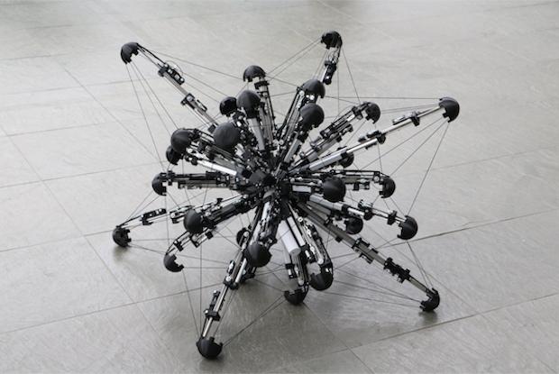 32-Legged Spherical Robot Moves Like an Amoeba