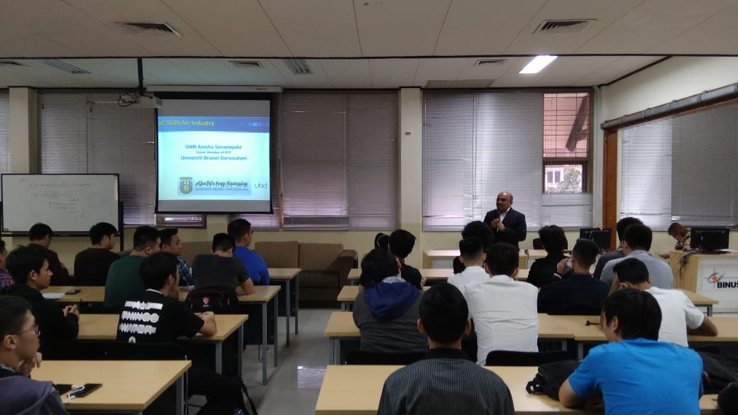 Guest Lecture 2, 8 Jan 2019, Topic : Microcontroller skills for industry